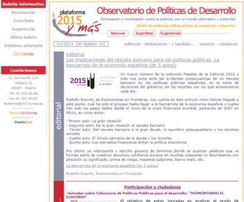 Mailing y Boletines 2015