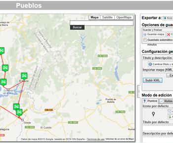aplicación para la gestión de mapas