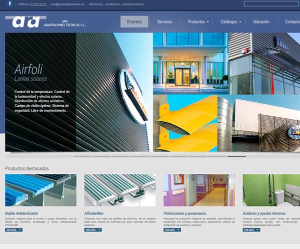 Web Empresa ARA Adaptaciones