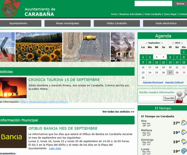 Web municipal del Ayuntamiento de Carabaña