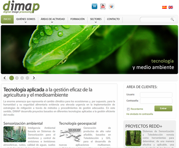 Web corporativa de DIMAP