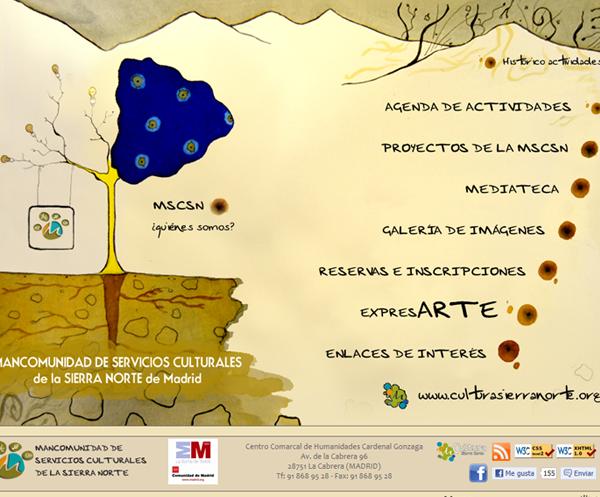 Web corporativa de la Mancomunidad de Servicios Culturales Sierra Norte