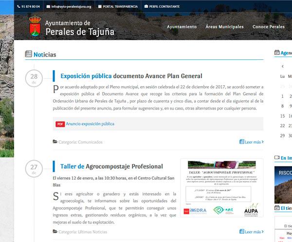 Web corporativa del Ayuntamiento de Perales de Tajuña