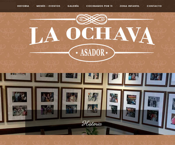 Web restaurante Asador La Ochava