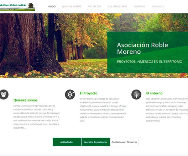 Web corporativa de la Asociación Roble Moreno