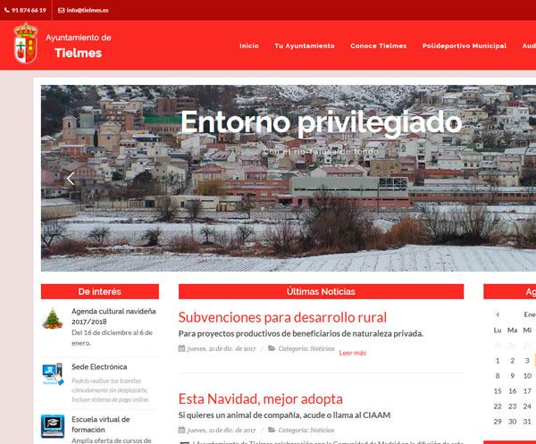 Web corporativa del Ayuntamiento de Tielmes