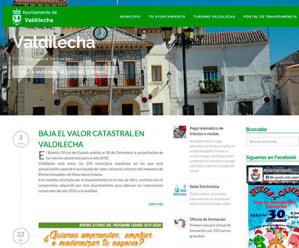 Web municipal del Valdilecha