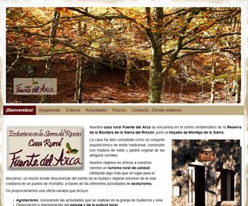 Web económica con Sitebuilder Casa Rural Fuente del Arca