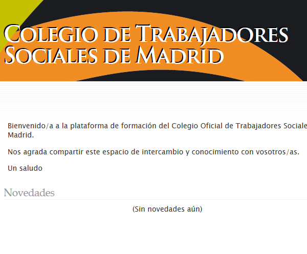 Plataforma de Formación Colegio de Trabajadores Sociales de Madrid