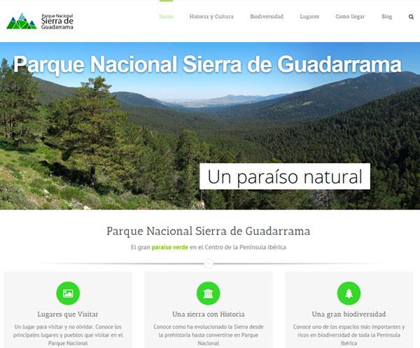 Web Parque Nacional Sierra de Guadarrama